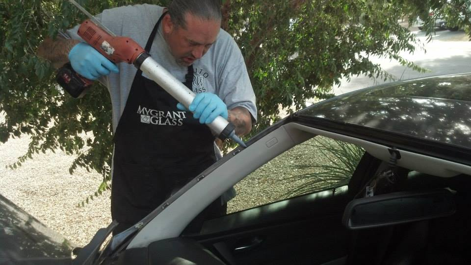 Owner Brad Reaser Replacing Windshield